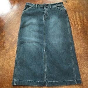 Bill Blass Jeans VTG Midi Denim Jean Skirt 10